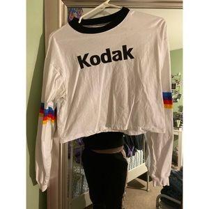 Kodak crop top long sleeve